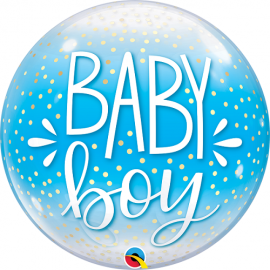 Μπαλόνι Bubble Baby Boy Dots