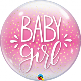 Μπαλόνι Bubble Baby Girl Dots