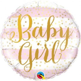 Μπαλόνι foil Baby Girl Gold Dots 18''