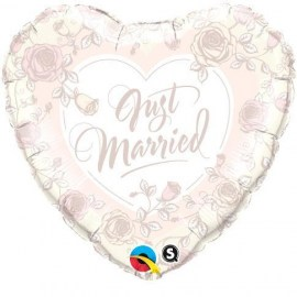 Μπαλόνι foil Just Married Roses 18''