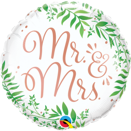 Μπαλόνι Foil Mr & Mrs Botanical